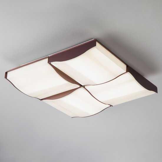 Светодиодный потолочный светильник 90031/4 кофе фото