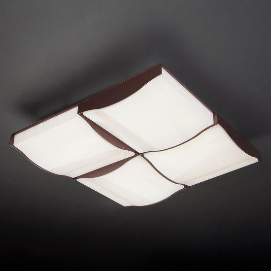 Фото №3 Светодиодный потолочный светильник 90031/4 кофе
