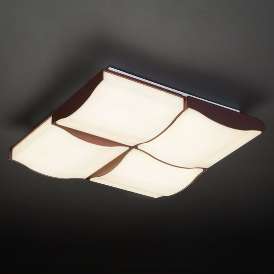 Фото №9 Светодиодный потолочный светильник 90031/4 кофе
