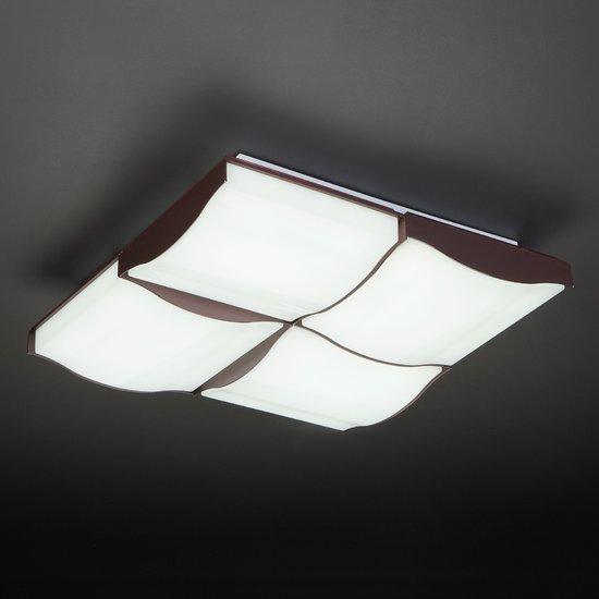 Фото №10 Светодиодный потолочный светильник 90031/4 кофе