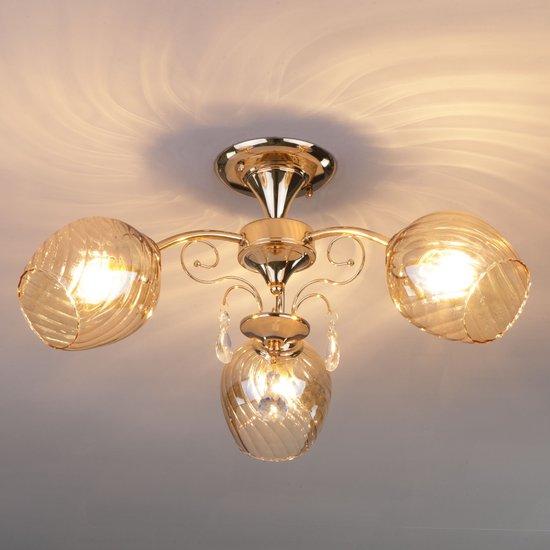 Фото №4 Потолочный светильник 30120/3 золото