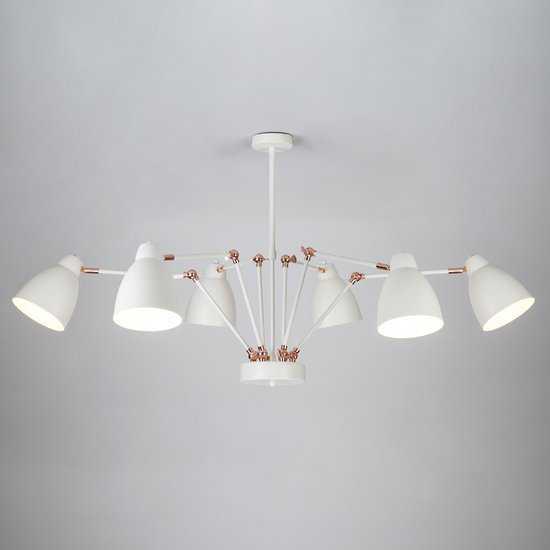 Светильник в стиле лофт с поворотными рожками 70084/6 белый фото