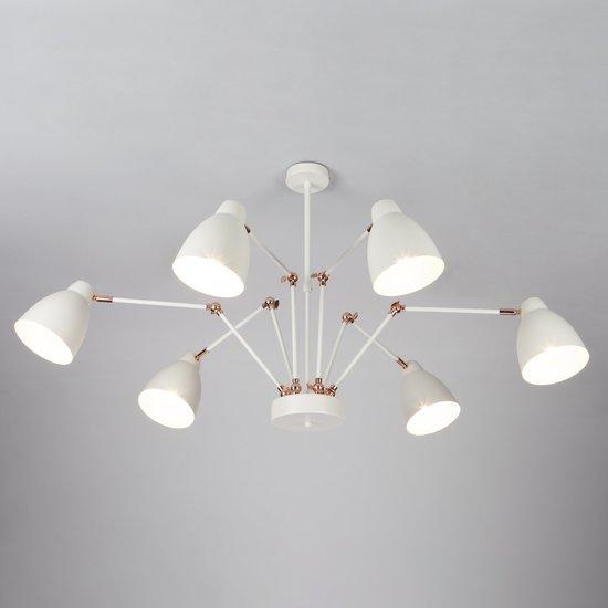 Фото №3 Светильник в стиле лофт с поворотными рожками 70084/6 белый