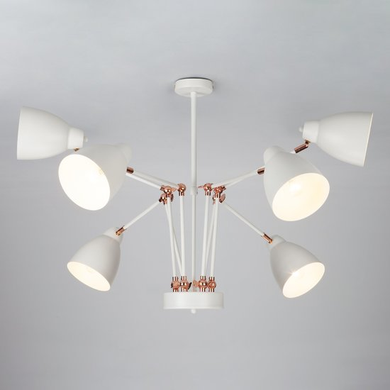 Фото №4 Светильник в стиле лофт с поворотными рожками 70084/6 белый