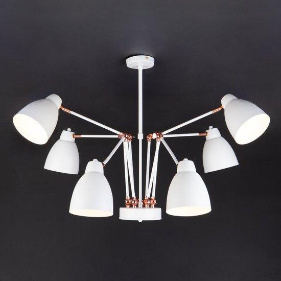 Фото №5 Светильник в стиле лофт с поворотными рожками 70084/6 белый