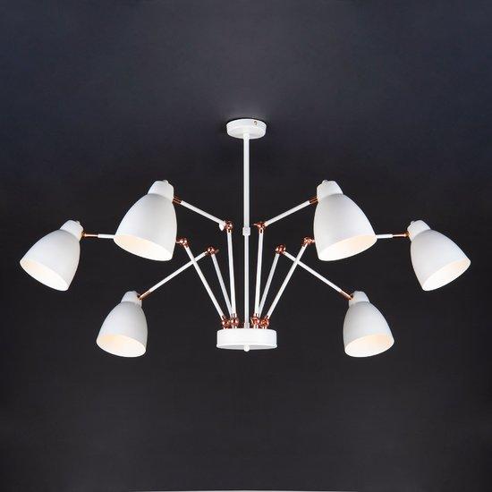 Фото №6 Светильник в стиле лофт с поворотными рожками 70084/6 белый