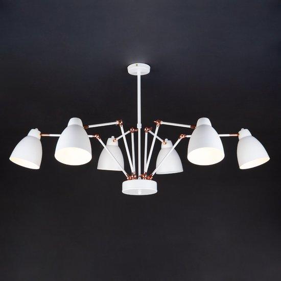 Фото №7 Светильник в стиле лофт с поворотными рожками 70084/6 белый
