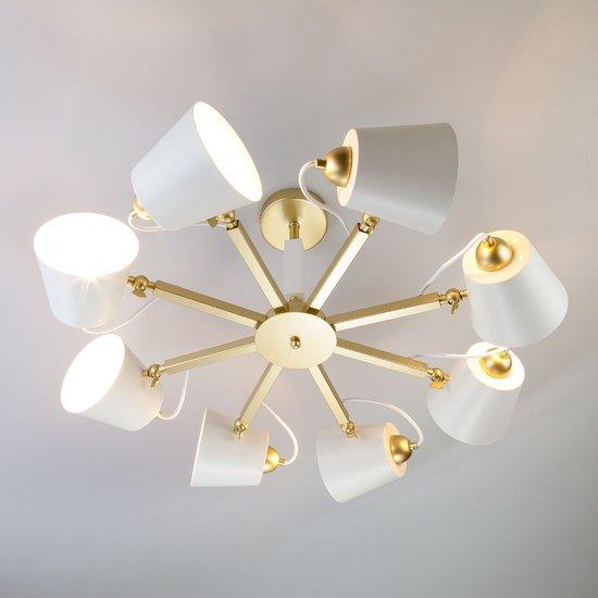 Фото №4 Светильник в стиле лофт с поворотными рожками 70083/8 золото