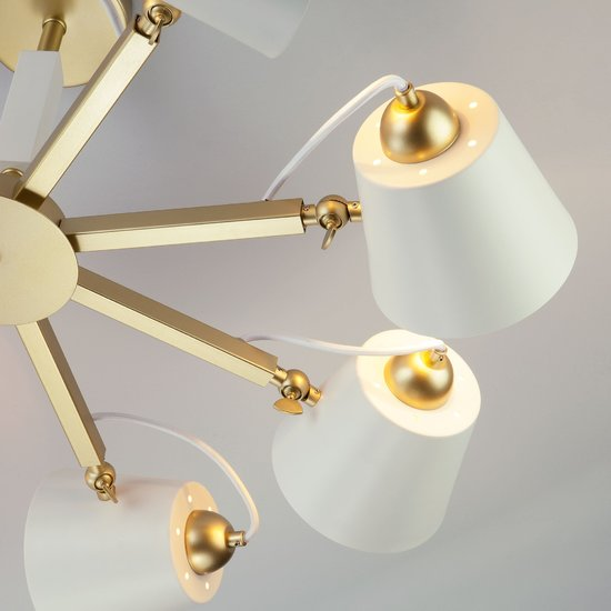 Фото №5 Светильник в стиле лофт с поворотными рожками 70083/8 золото