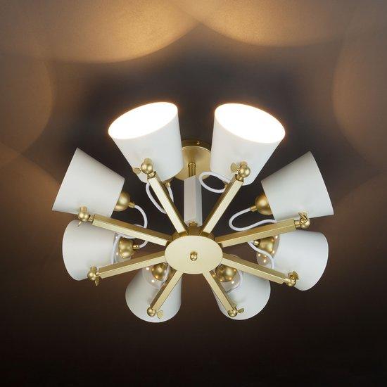 Фото №7 Светильник в стиле лофт с поворотными рожками 70083/8 золото