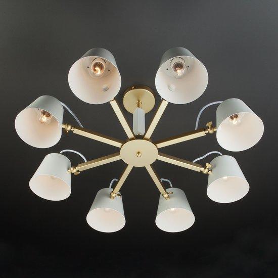 Фото №8 Светильник в стиле лофт с поворотными рожками 70083/8 золото