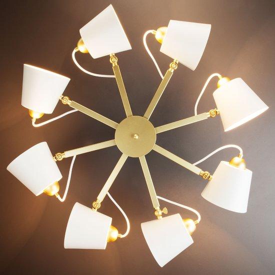 Фото №9 Светильник в стиле лофт с поворотными рожками 70083/8 золото