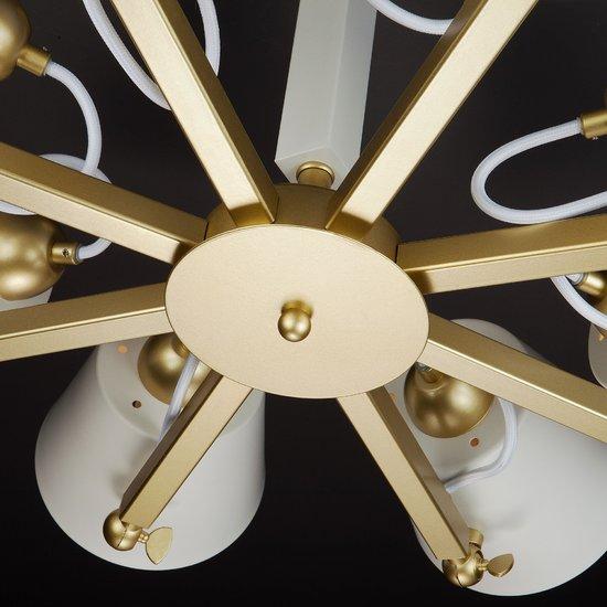 Фото №10 Светильник в стиле лофт с поворотными рожками 70083/8 золото