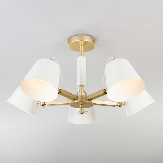 Светильник в стиле лофт с поворотными рожками 70083/5 золото фото