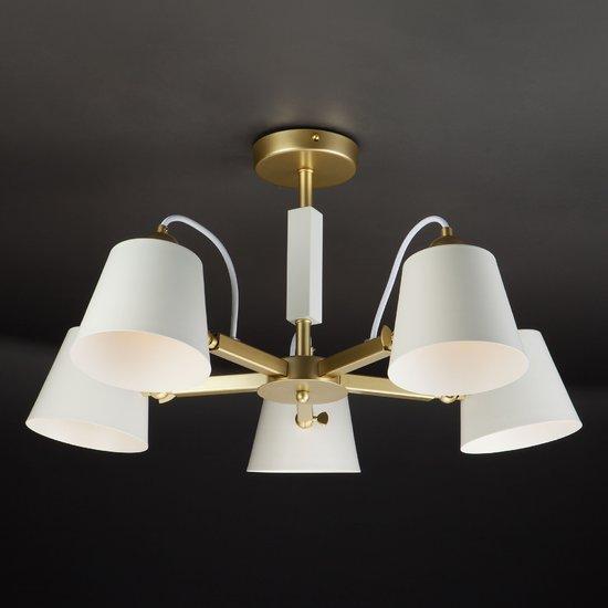 Фото №3 Светильник в стиле лофт с поворотными рожками 70083/5 золото