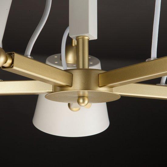 Фото №7 Светильник в стиле лофт с поворотными рожками 70083/5 золото