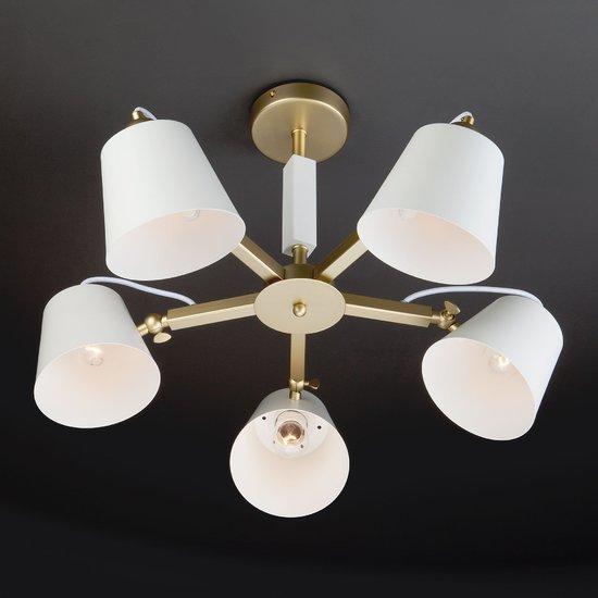 Фото №10 Светильник в стиле лофт с поворотными рожками 70083/5 золото
