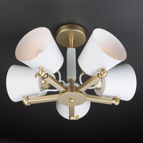 Фото №11 Светильник в стиле лофт с поворотными рожками 70083/5 золото