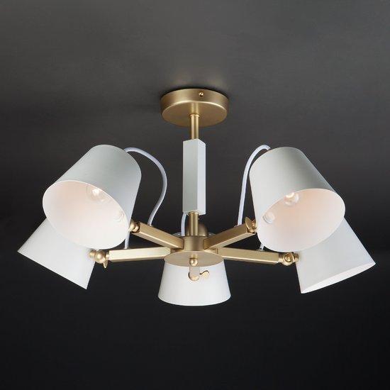 Фото №12 Светильник в стиле лофт с поворотными рожками 70083/5 золото