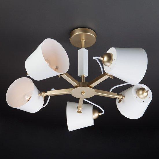 Фото №14 Светильник в стиле лофт с поворотными рожками 70083/5 золото
