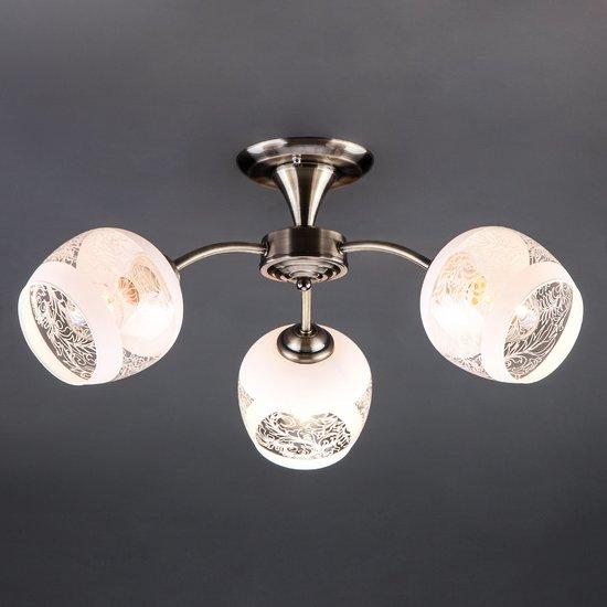 Фото №3 Потолочный светильник 30118/3 античная бронза