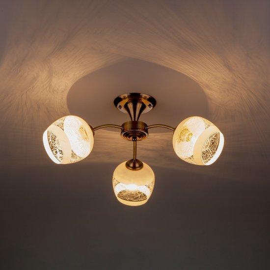 Фото №4 Потолочный светильник 30118/3 античная бронза