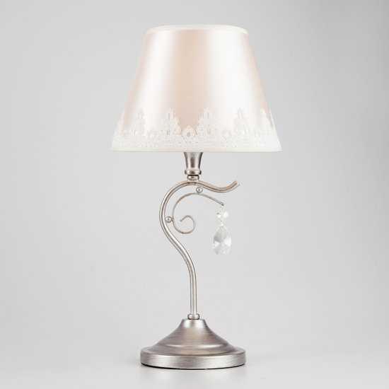 Фото №2 Классическая настольная лампа 01022/1 серебро