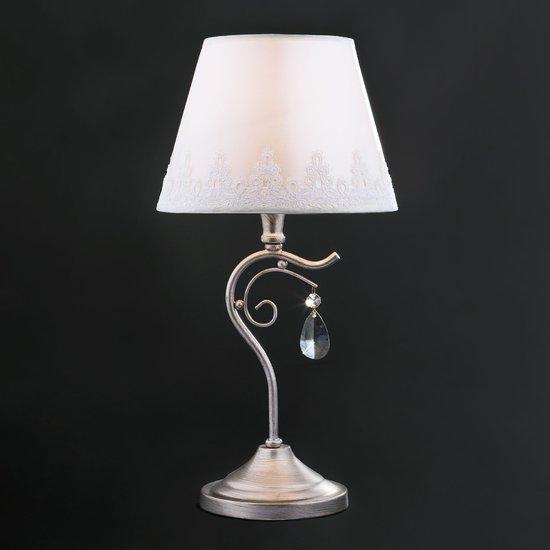 Фото №3 Классическая настольная лампа 01022/1 серебро
