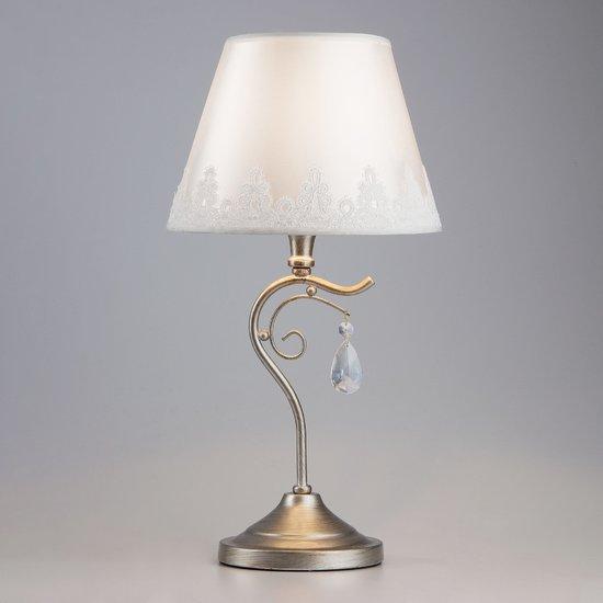 Фото №4 Классическая настольная лампа 01022/1 серебро