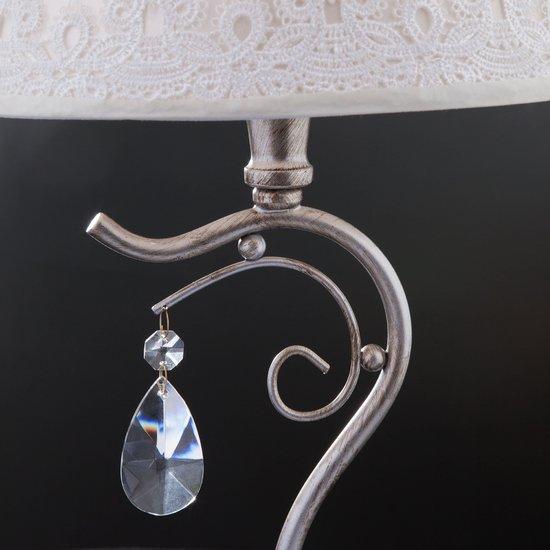 Фото №7 Классическая настольная лампа 01022/1 серебро