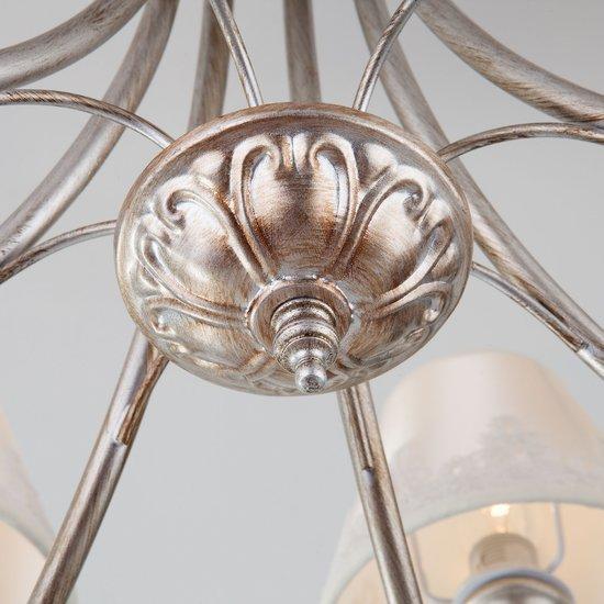 Фото №7 Классическая люстра с абажурами 60069/8 серебро