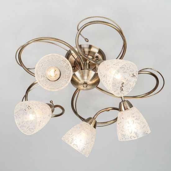 Фото №2 Потолочный светильник 30130/5 античная бронза