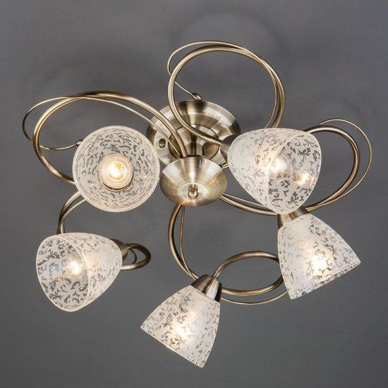 Фото №3 Потолочный светильник 30130/5 античная бронза
