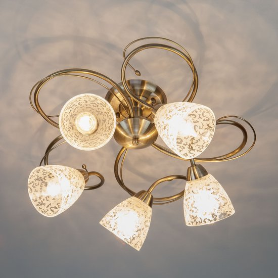 Фото №8 Потолочный светильник 30130/5 античная бронза