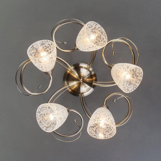 Фото №9 Потолочный светильник 30130/5 античная бронза