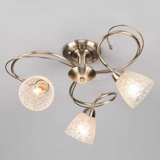 Фото №2 Потолочный светильник 30130/3 античная бронза