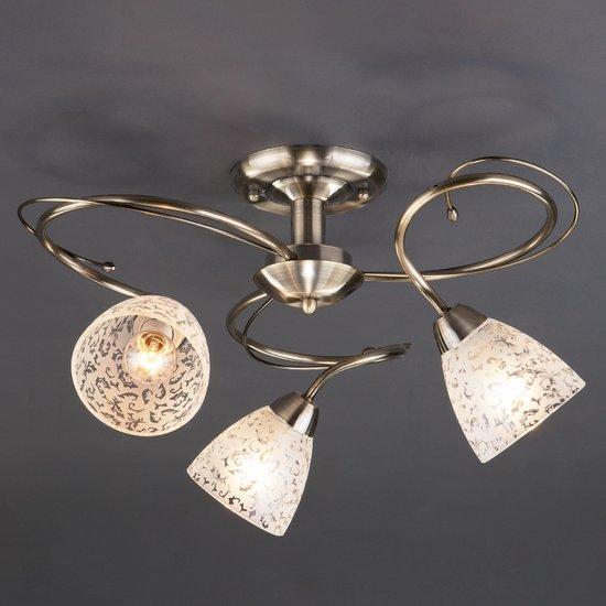 Фото №3 Потолочный светильник 30130/3 античная бронза