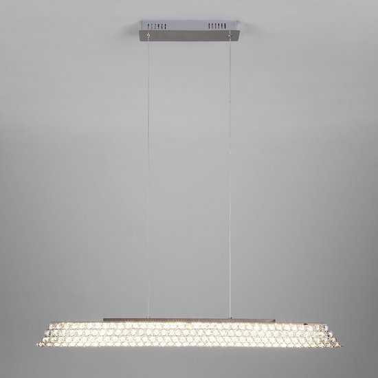 Светодиодный подвесной светильник с хрусталем 90075/1 хром фото