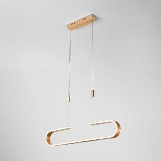 Светодиодный подвесной светильник 90072/1 золотой фото