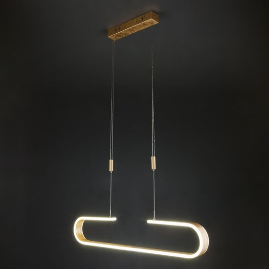 Фото №4 Светодиодный подвесной светильник 90072/1 золотой