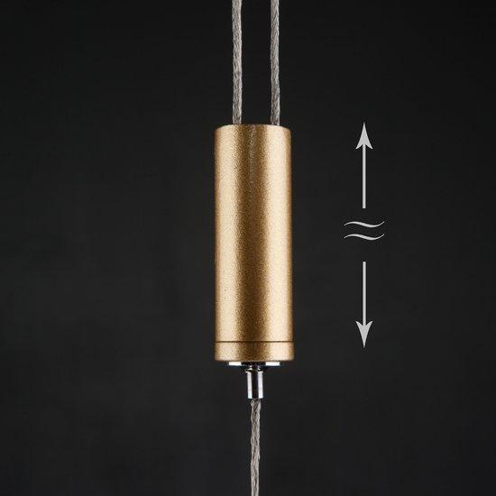 Фото №6 Светодиодный подвесной светильник 90072/1 золотой