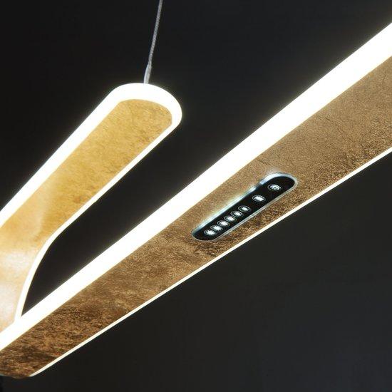 Фото №8 Светодиодный подвесной светильник 90072/1 золотой
