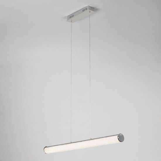 Фото №2 Светодиодный подвесной светильник с хрустальной крошкой 90061/1 хром
