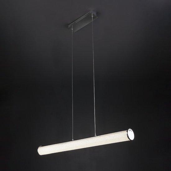 Фото №3 Светодиодный подвесной светильник с хрустальной крошкой 90061/1 хром