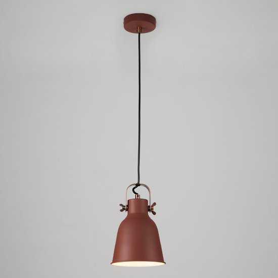 Подвесной светильник 50083/1 бордовый фото