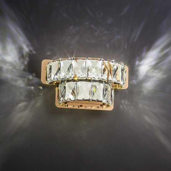 Светодиодный настенный светильник с хрусталем 90059/2 золото фото