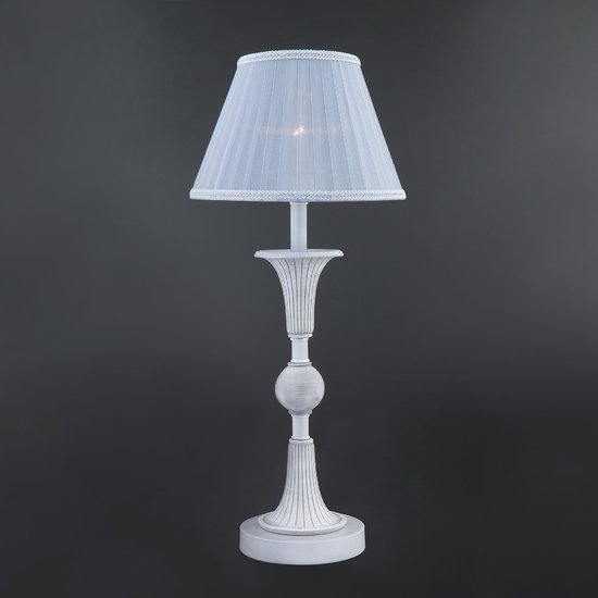 Фото №3 Настольная лампа с абажуром 01026/1 серый