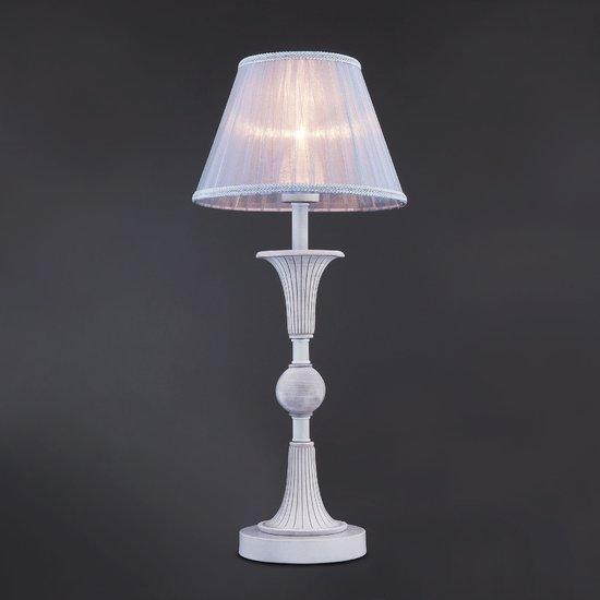 Фото №4 Настольная лампа с абажуром 01026/1 серый