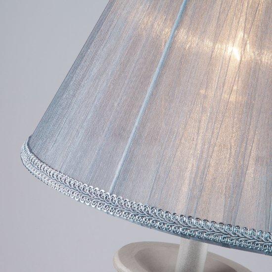 Фото №5 Настольная лампа с абажуром 01026/1 серый
