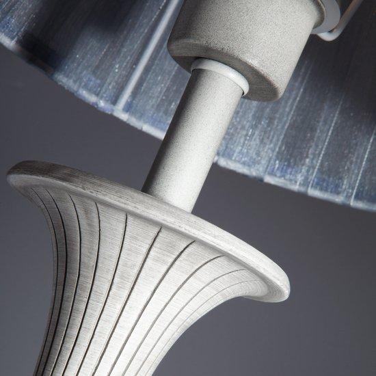 Фото №7 Настольная лампа с абажуром 01026/1 серый